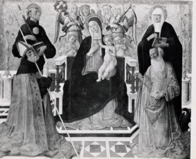 Richiesta di contributo per la pala d'altare della chiesa di sant'Agostino
