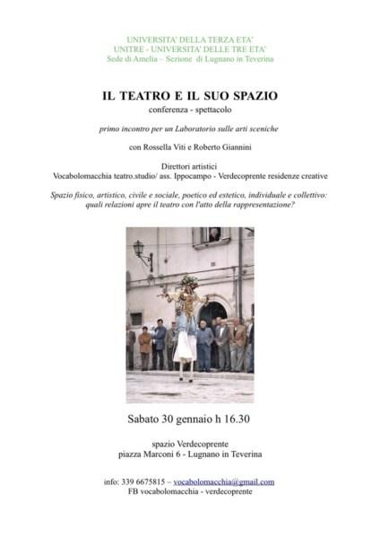 Il Teatro e il suo Spazio. Conferenza spettacolo a Lugnano