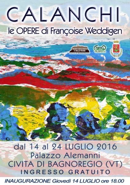 A Civita, viaggio tra dipinti e sculture di Francoise Weddigen-Jaccard