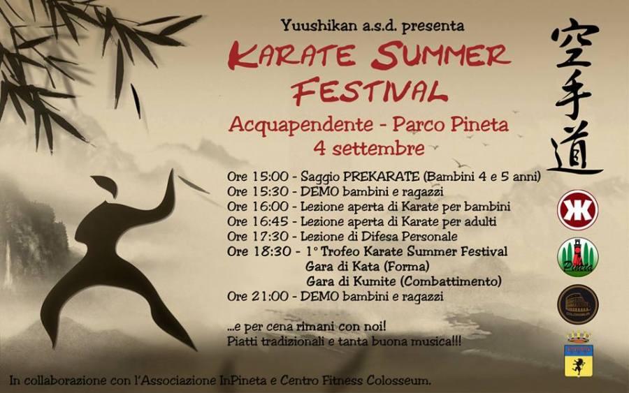 Presentato programma Karate summer Festival