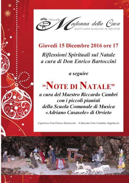 Note di Natale apre il calendario di Natale in Musica. Oggi alle 16 al Santuario della Cava