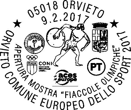 Speciale Annullo Filatelico per la mostra delle Fiaccole Olimpiche di Orvieto