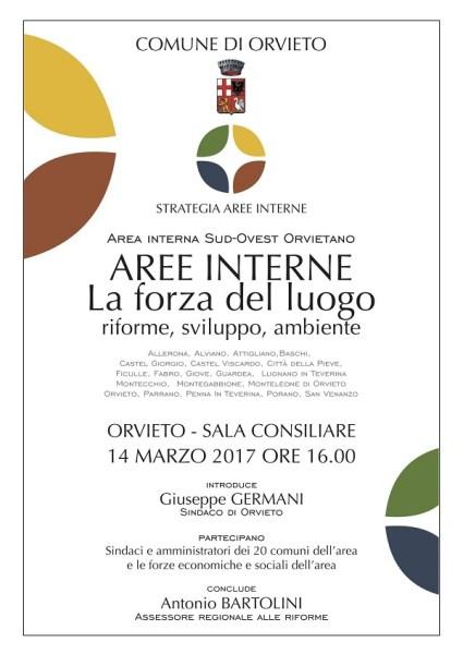 """""""La forza del luogo. Riforme, sviluppo, ambiente"""" incontro di Area Interna Sud-Ovest Orvietano"""