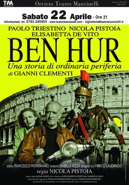 Tra disincanto, ironia e riflessione, Ben Hur chiuderà la stagione 2016-2017 del Mancinelli