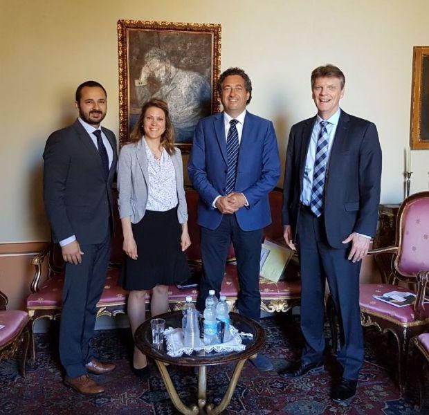 L'amministrazione comunale di Orvieto riceve il console Usa in Italia