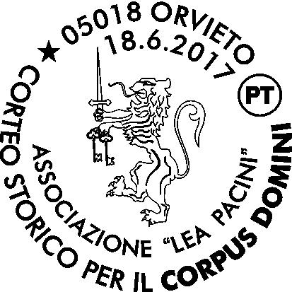 Annullo filatelico speciale in occasione del corteo storico di Orvieto disponibile dal 18 giugno