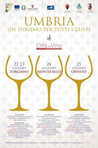 Simposio Nazionale del Vino 2017. Un percorso enoculturale tra Montefalco, Torgiano e Orvieto