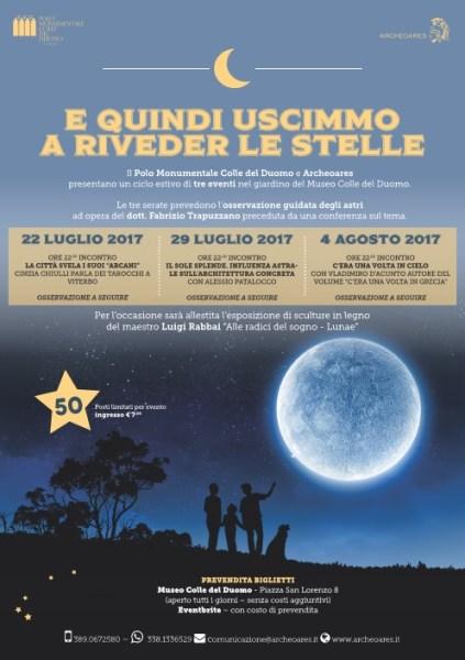 E quindi uscimmo a riveder le stelle, 2a serata di osservazione stellare a Viterbo