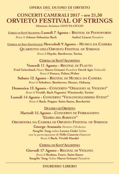 """Ad Orvieto la 16esima edizione di """"Orvieto Festival of Strings"""""""