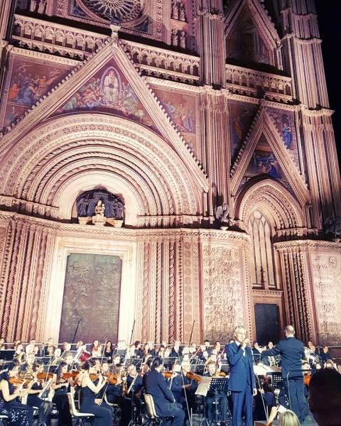 Orvieto4Ever: Andrea Bocelli riempie piazza Duomo. Applausi per Autieri, Usher, Sylvestre e l'orvietana Martina Maggi