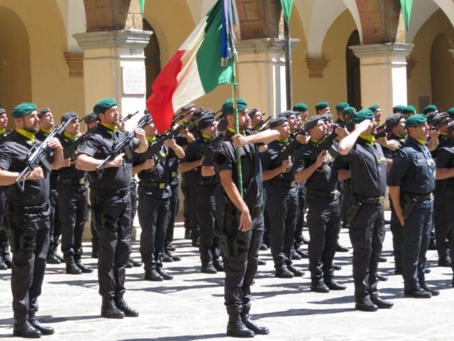 Consegna dei baschi verdi agli allievi del 38° Corso Antiterrorismo Pronto Impiego presso la Scuola A.S. di Orvieto