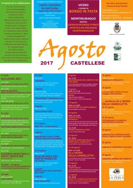 """Si alza il sipario su """"L'agosto castellese"""", eventi fino al 27 agosto"""