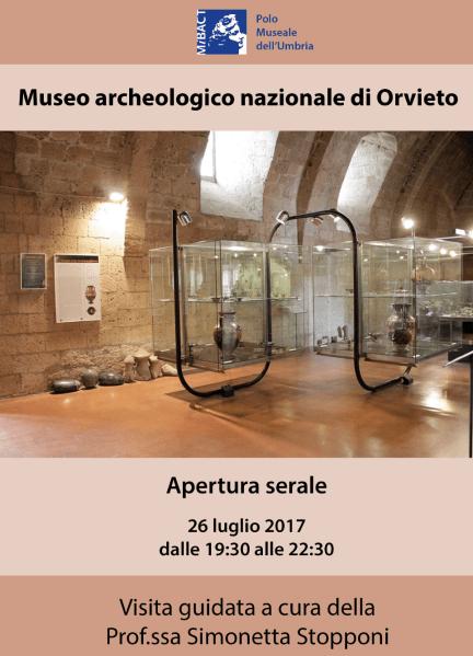 Visita in notturna al Museo archeologico con la prof.ssa Simonetta Stopponi