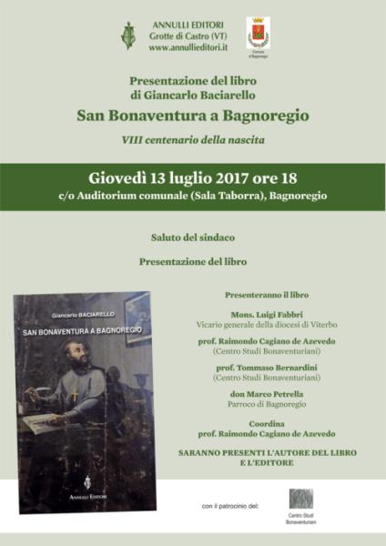 """Presentazione di """"San Bonaventura a Bagnoregio"""" di Giancarlo Baciarello"""