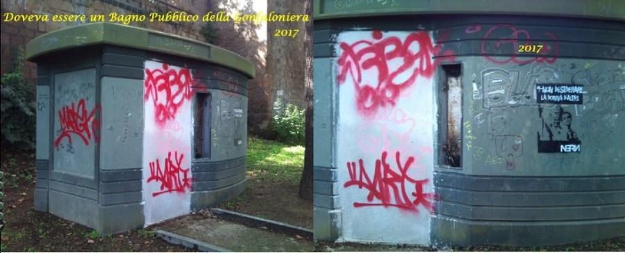 Chiuso il vespasiano ai giardini della Confaloniera, preso di mira dai vandali