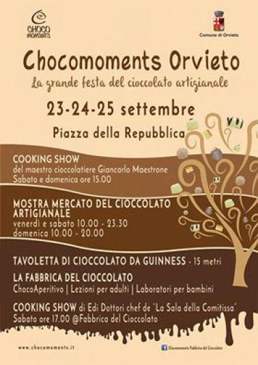 Arriva Chocomoments Orvieto, la grande festa del cioccolato artigianale