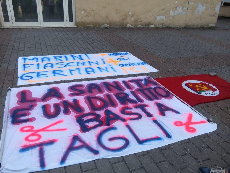 """Protesta contro tagli alla sanità, Zeno (Pci): """"la politica non fa il suo lavoro. Facciamo rumore almeno come cittadini"""""""