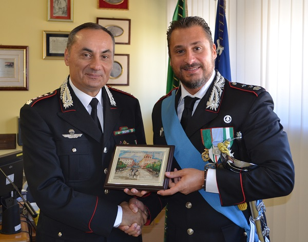 Il tenente colonnello Celi lascia l'incarico di comandante del reparto operativo di Terni