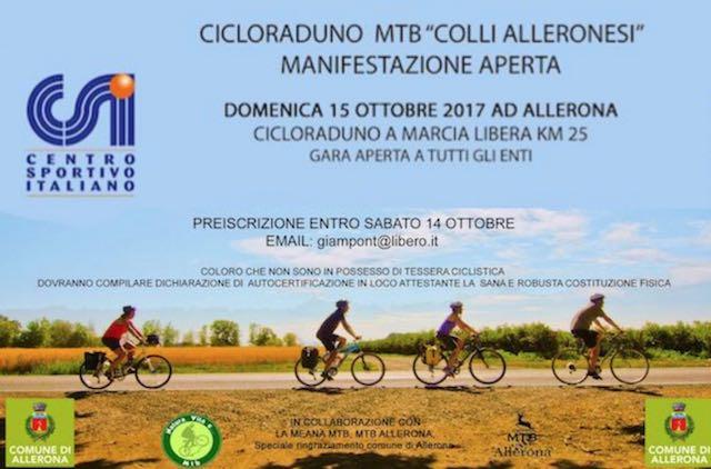 """Cicloraduno MTB """"Colli Alleronesi"""", 25 km pedalando nei boschi della Selva di Meana"""