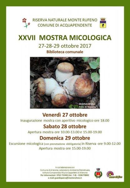 Al via la 27esima Mostra micologica alla Riserva Naturale Monte Rufeno
