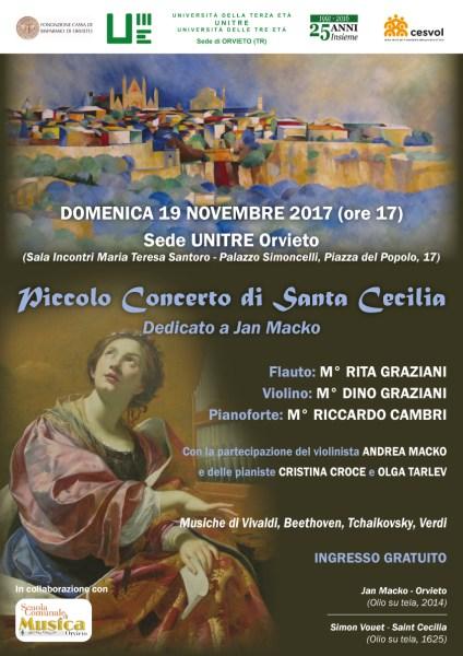 All'UniTre appunamento con il tradizionale concerto di Santa Cecilia