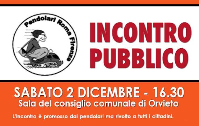 """Comitato pendolari Roma-Firenze, sabato 2 dicembre incontro """"aperto"""" in Comune"""