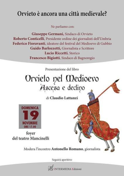 """""""Orvieto è ancora una città medievale?"""", se ne parla nel convegno del 19 novembre"""