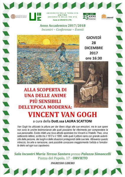 Unitre di Orvieto alla scoperta di Van Gogh con la conferenza della dottoressa Laura Scattoni