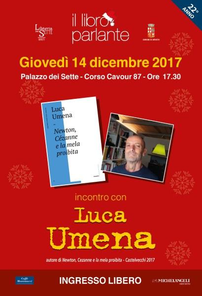 """Per la rassegna de """"Il Libro Parlante"""" Luca Umena presenta """"Newton, Cezanne e la mela proibita"""""""