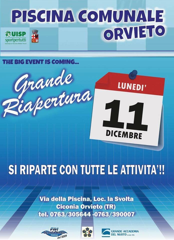 Grande Evento Calendario.Riapre La Piscina Comunale De La Svolta L 11 Dicembre