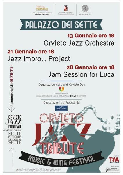Orvieto Jazz Tribut, tre concerti al Palazzo dei Sette per rendere omaggio al jazz orvietano