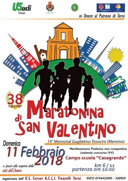 A Terni per San Valentino torna la Maratonina 14° Memorial Guglielmo Tessicini