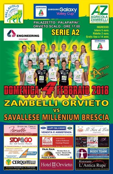 Per la Zambelli Orvieto ripresa ostica contro una Brescia lanciata