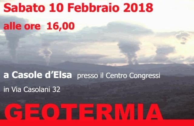 Geotermia, nuovo incontro pubblico aperto a tutti i cittadini