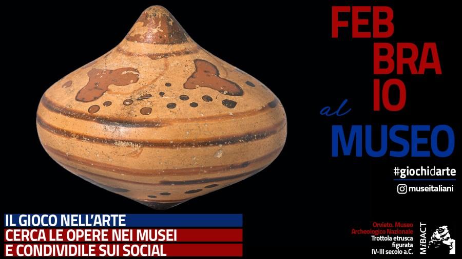 La trottola etrusca del Museo archeologico nazionale protagonista della campagna social del Mibact