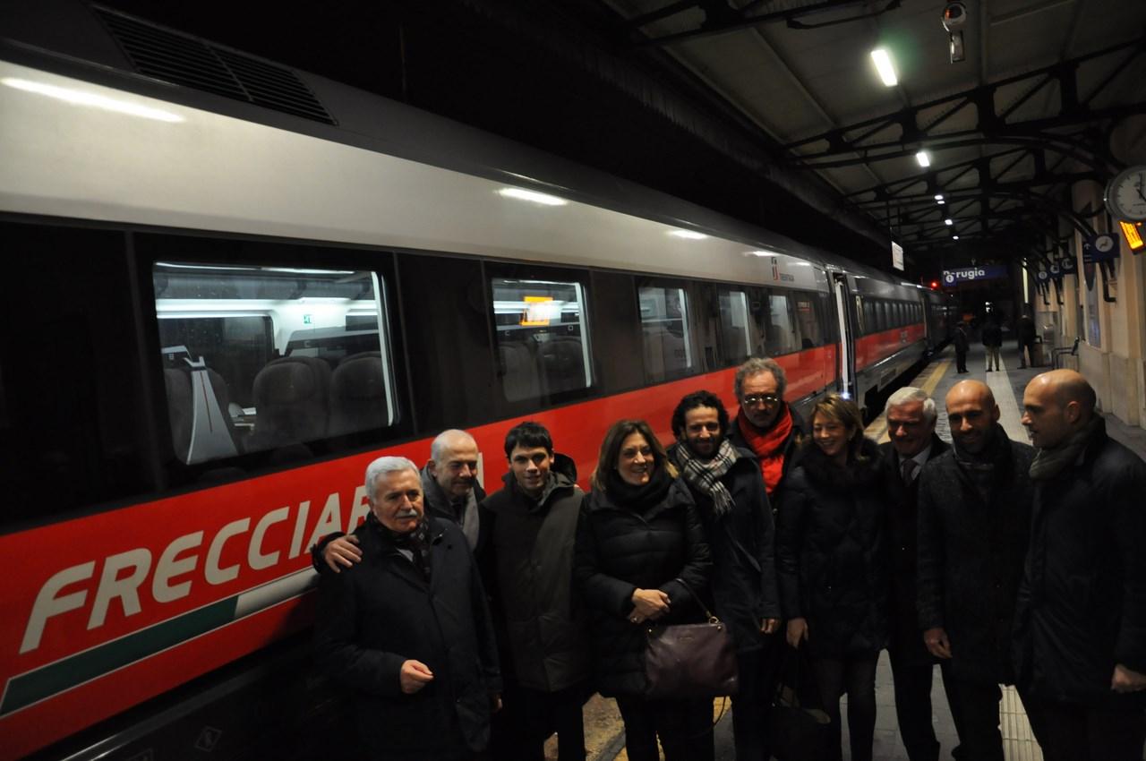 Primo Frecciarossa partito da Perugia