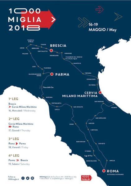 Mille Miglia 2018, la corsa più bella passa anche per Orvieto. Tante novità nella 36esima eizione