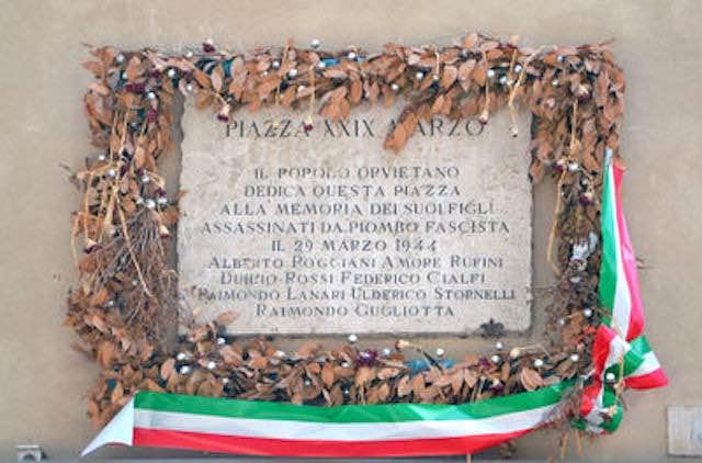 """Commemorazione dei sette martiri a Camorena, Germani: """"Una pagina importante della nostra storia"""""""