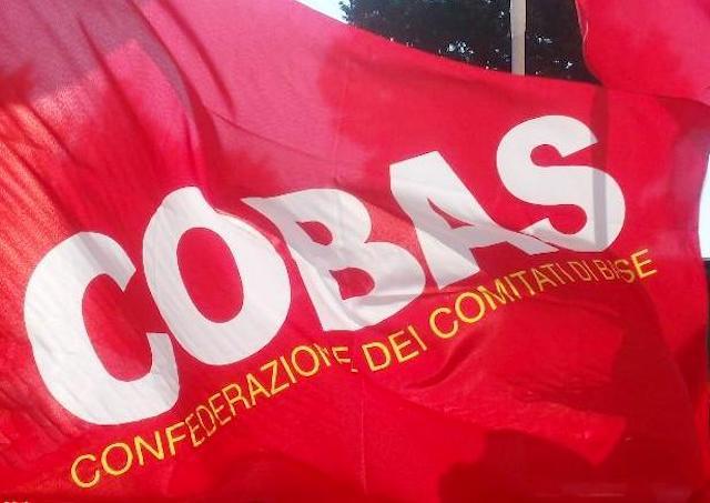 """Covid-19, Cobas: """"La salute di chi lavora viene prima del profitto aziendale"""""""