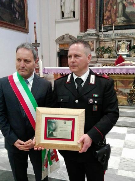 """Salvò una donna dal suicidio, conferito """"Attestato di Solidarietà"""" all'appuntato dei Carabinieri di Allerona Franco Scopigno"""