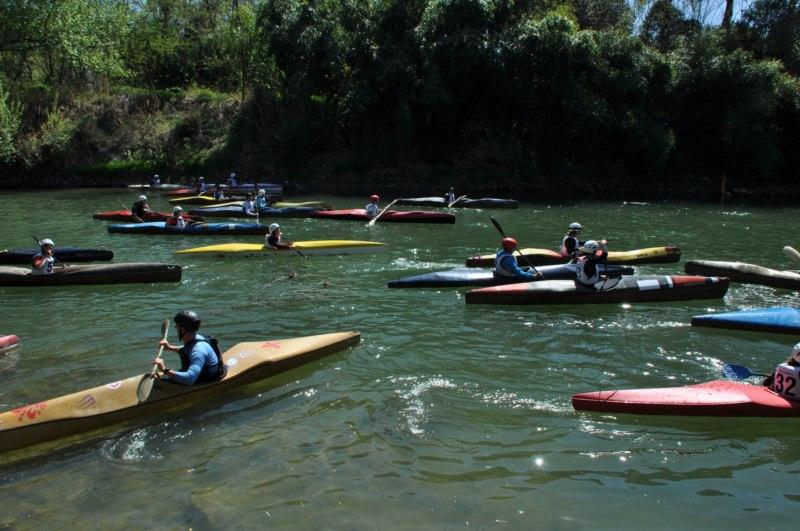 Gare nazionali di canoa sul Tevere con la 4A e 5A Gara Circuito Nazionale Grand Prix d'Italia