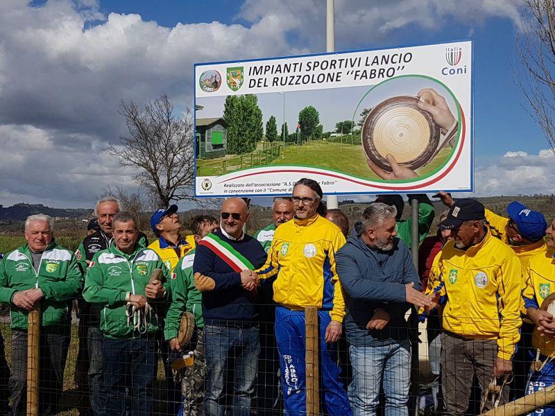Inaugurate a Fabro due nuove piste per il lancio del Ruzzolone