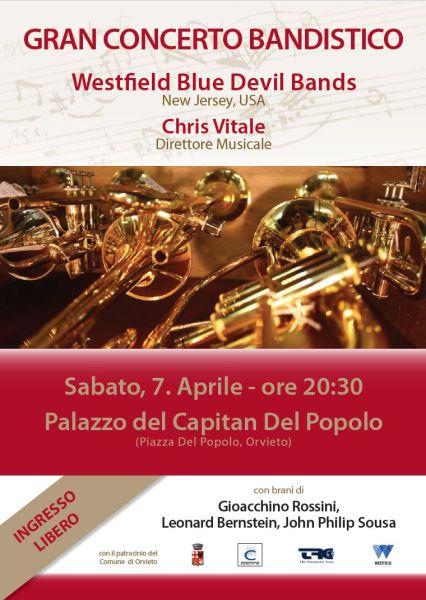 """""""Westfield Blue Devil Bands"""" gran concerto bandistico a Palazzo del Popolo"""