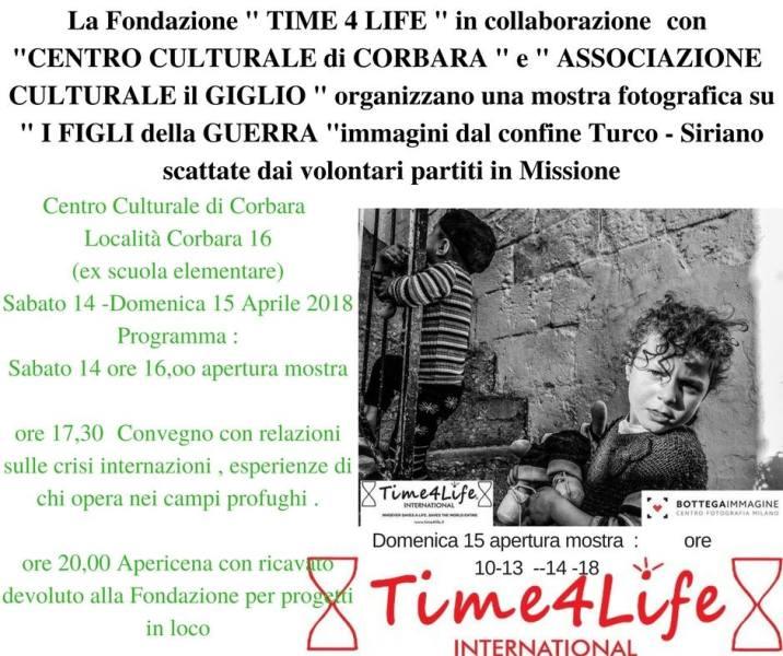 """""""I figli della guerra"""" negli spazi del centro culturale Il Giglio una mostra per """"Time4Life"""""""