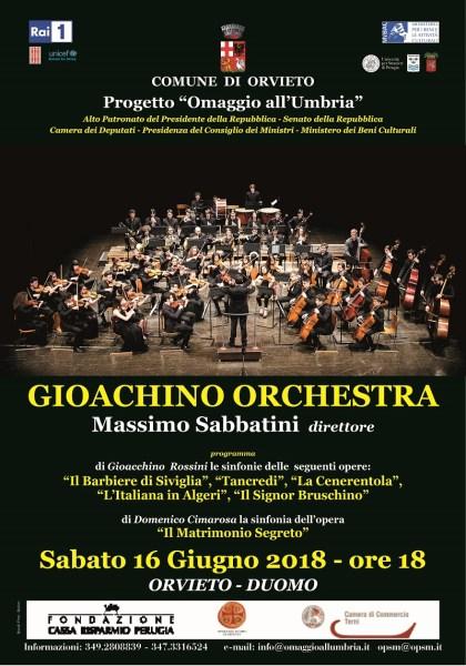 """""""Omaggio all'Umbria"""", al Duomo di Orvieto concerto della Gioachino Orchestra"""