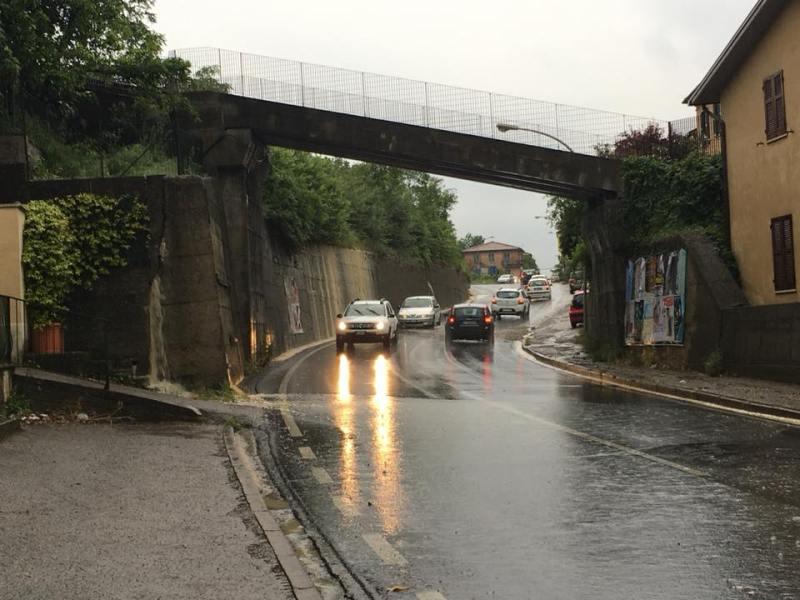 Maltempo e pioggia. Disagi e allagamenti ai piedi della Rupe di Orvieto