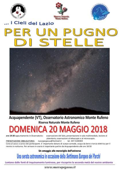 """""""Per un pugno di stelle"""", appuntamento con la Via Lattea all'Osservatorio Monte Rufeno"""