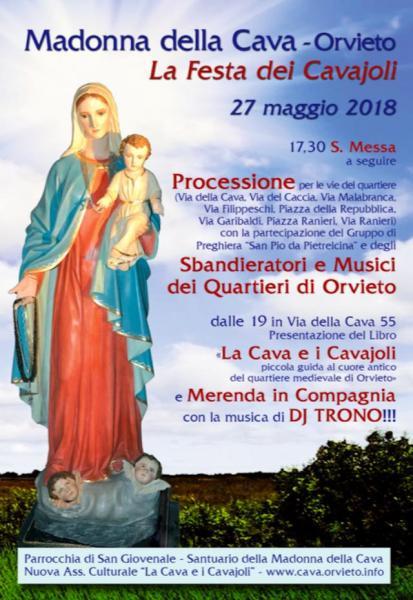 Madonna della Cava, niente festa civile ma processione con sbandieratori e musici