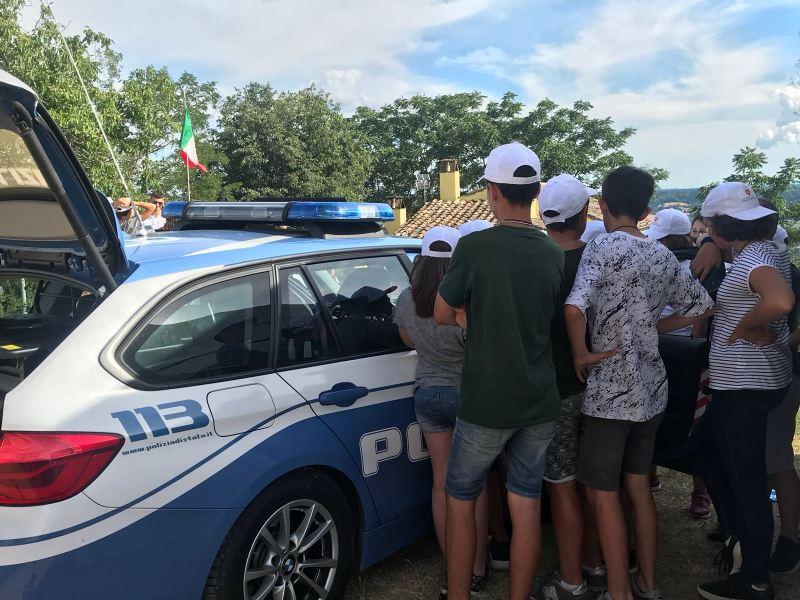 """La Polizia Stradale di Terni partecipa al campus """"Anche Io Sono la Protezione Civile"""""""