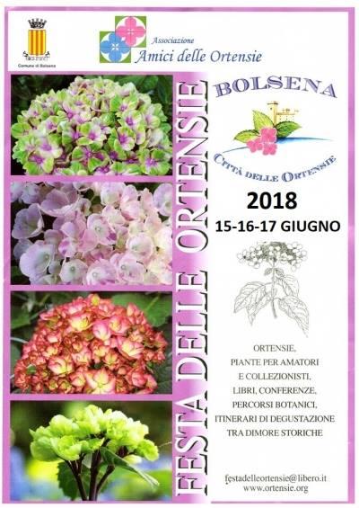 Non c'è estate a Bolsena senza Festa delle Ortensie. Tutto è pronto per l'edizione 2018
